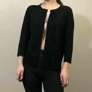 audrey & grace black cardigan